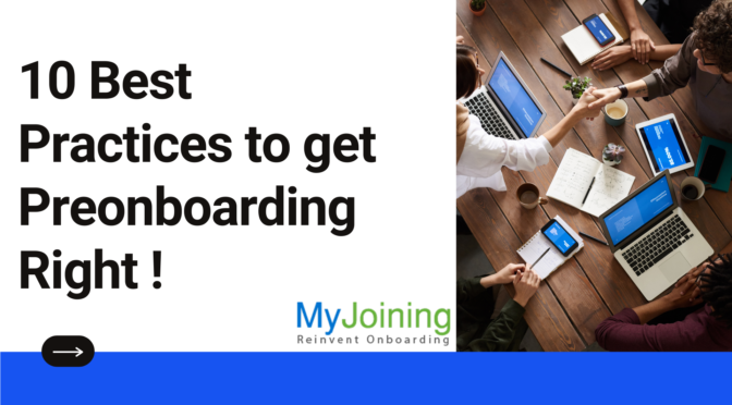 10 Best Practices to get Preonboarding Right !